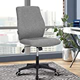 Office Desk Chair (2021 New) Armless Computer with Wheels Studio Mid Back Ergonomic Mesh Task Rolling Spinning Swivel Adjustable Desktop Conference No Arms Lumbar Support for Small Spaces Grey