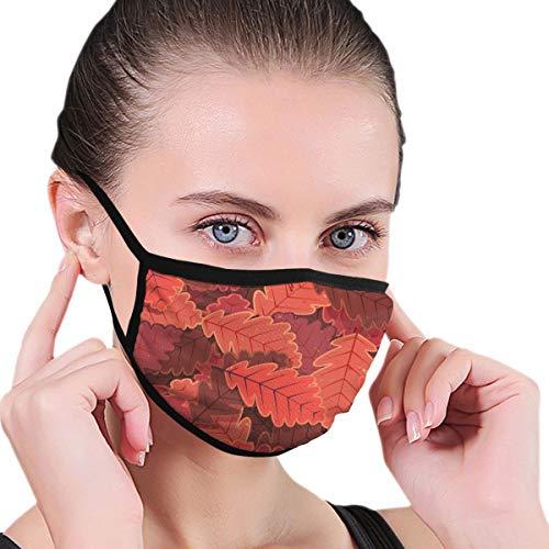 N/A Adult Unisex Wasbaar Herbruikbaar Polyester Anti Stofzuiger Mond In Pakjes Rood, Bruine Bladeren Opgepeld Een Na Een
