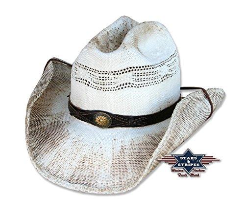 STARS & STRIPES Cowboyhut Snake Used-Look von Stars&Stripes Country Western Hut , Größe:S