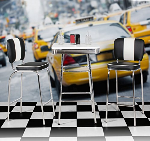 FineBuy KING – American Diner Bartisch 60 x 60 x 100 cm quadratisch - 7