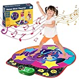 Electronic Light Up Dance Mat for Kids and Adults Dance Revolution Mat Gift Toys for Boys Girls with LED Lights, Adjustable Volume/Speed, Built-in Music, Free/Game Mode(37.8'×37.8')