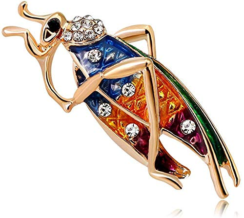 FOPUYTQABG Pin Insecto Animal Pin Color Goteo Caballete Hombre Pin