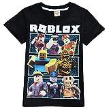 Roblox Camiseta Exquisitos Trajes de Vestir para niños Camisas de Manga Corta de Fibra de bambú elástica y elástica niños (Color : A01, Size : 140)