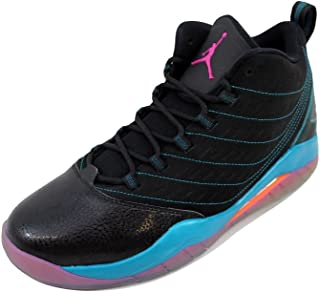 NIKE Men's Air Jordan Velocity Black/Fusion Pink-Tropical Teal-Electric Orange 688975-025 Shoe