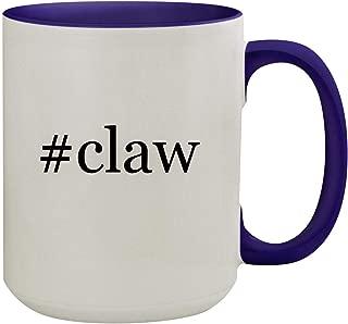 #claw - 15oz Hashtag Ceramic Inner & Handle Colored Coffee Mug, Deep Purple