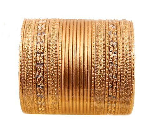 Touchstone 2 Dutzend Armreifsammlungslegierungsmetallstrukturierte spezielle Armreifarmbänder des Entwerferschmucks für Damen 2.62 Set 2 groß Gold