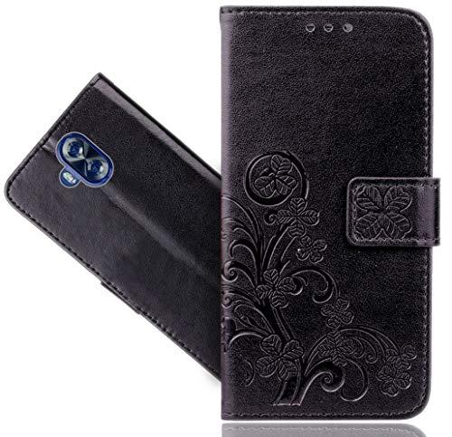 Doogee Mix Lite Handy Tasche, FoneExpert Wallet Hülle Cover Flower Hüllen Etui Hülle Ledertasche Lederhülle Schutzhülle Für Doogee Mix Lite