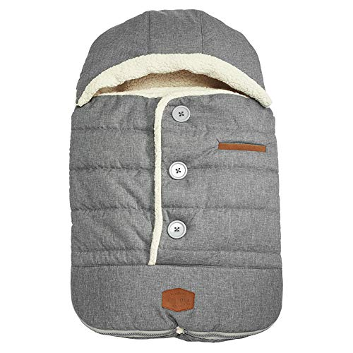 JJ Cole - Urban Bundleme, Canopy Style Bunting Bag to Protect Baby from Cold & Winter Weather in Car Seats & Strollers, Graphite, Infant, Grey