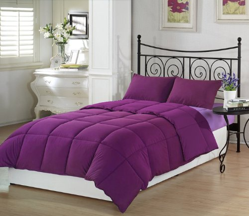 5 Piece Purple & Lavender Twin Extra Long Bedding Set by Ivy Union