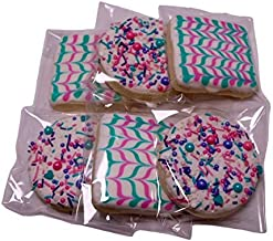 LuluPops by Lina Decorated Sugar Cookies - 6 Count - Three Round Decorated Sugar Cookies And Three Square Decorated Sugar Cookies