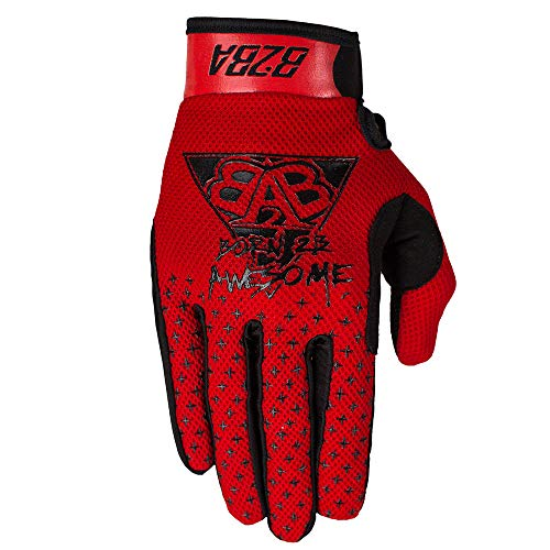 B2BA Clothing leichte Handschuhe Mountain Bike Downhill Enduro Motocross Freeride DH MX MTB BMX Quad Cross, schnelltrocknend, rutschfest und atmungsaktiv, 2020 STARS Rot Schwarz, Größe XL