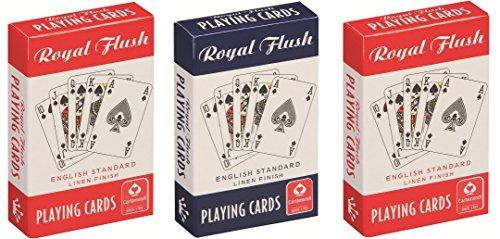 Cartamundi Royal Flush Standard-Spielkarten (3Stück, Rot/Weiß/Blau)