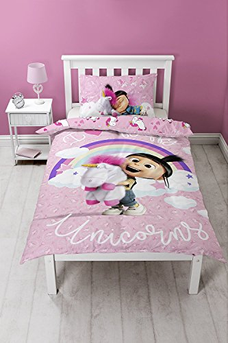 Despicable Me Bettwäsche-Set, Polyester-Baumwolle, Rose, 29 x 24 x 2.5 cm