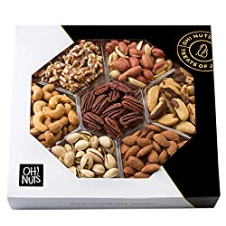 Oh! Nuts Healthy Nut Platter is a great gift for patients on low-sodium diets – like many heart attack patients. This heart-healthy treat offers seven ...
