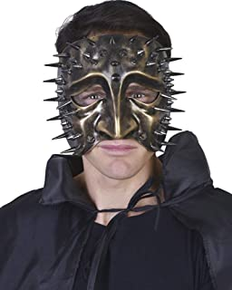 Gold Lazzero Eye Mask With Spikes One Size