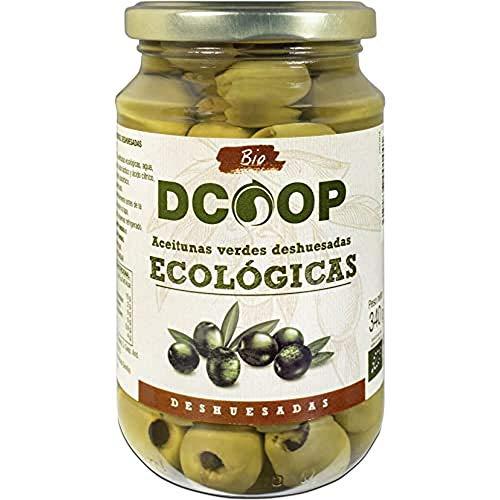 DCOOP Olivas - Aceitunas Verdes Ecológicas Deshuesadas, Textura Firme, Sabor