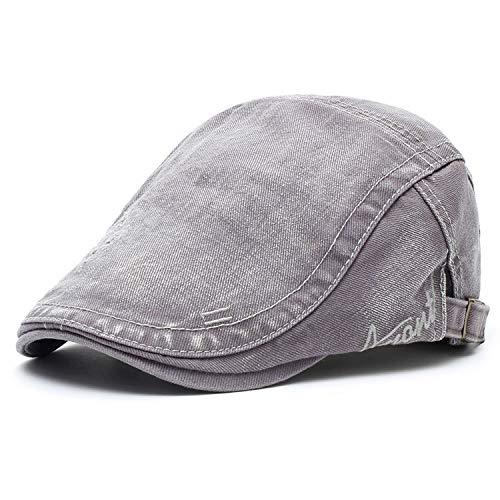 M MOACC Men Beret Hat Cotton Buckle Adjustable Newsboy Hats Cabbie Gatsby Cap