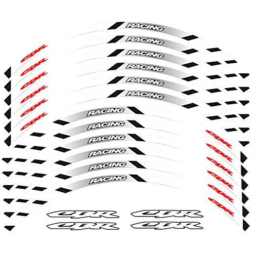 Pegatinas reflectantes para ruedas delanteras y traseras de motocicleta con borde exterior de borde adhesivo reflectante para llantas (color: 1)