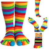 Unbekannt Silly Socken Die Lustigen Socken mit Aufgedruckten Motiven - verschiedene Motive & Größen - vertrieb durch ABAV (Bunte gestreifte Socken - Größe 37-45)