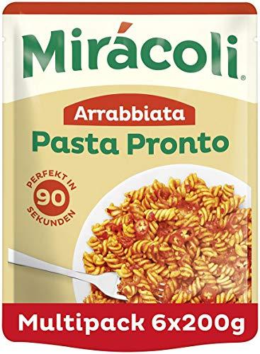 MIRÁCOLI Pasta Pronto Arrabbiata, 6 Packungen (6 x 200g)
