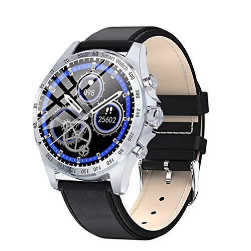 KMF Reloj Inteligente para Hombres IP68 IP68 Impermeable Monitor De Frecuencia Cardíaca Pantalla Táctil Completa Deportes Fitness Moda Moda Moda Reloj LW09,B