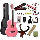 ギター 初心者 入門 アコースティック クラシックギター チューナーピックセット16点セット ピンク