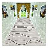 Alfombra premium de alfombra gris con rayas onduladas para pasillo, área lavable, 1/4 pulgadas, antideslizante para el baño, porche, entrada frontal, tamaños personalizados, 1,2 x 1 m