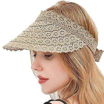 Damen Stroh Sonnenblende Hut