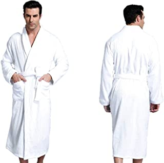 Zavest Luxury 100% Cotton Terry Towelling Bath Robe Men Women ONE Size Gown Mothers Day White