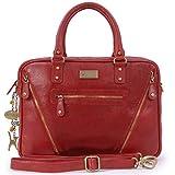 Catwalk Collection Handbags - Leder - Schultasche/Arbeitstasche/Aktentasche für Damen - Laptop/iPad...