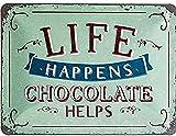 Nostalgic-Art Blechschild-Word Up-Life Happens-Chocolate