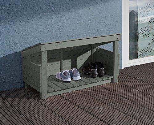 Weka 196.0138.00.00 Schoen- en laarzenbox, grijs, 102 x 59 x 48 cm