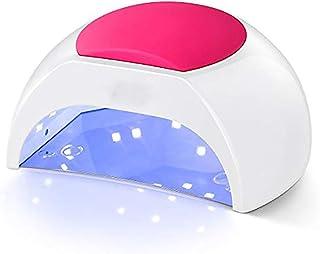 ZUEN Foto De Uñas Inteligente Granos De La Lámpara 48W Máquina De La Terapia Sin Dolor Modo 33 3 Colores De Silicona Reemplazable Casquillo 4 Temporizador Velocidad Luces De Uñas