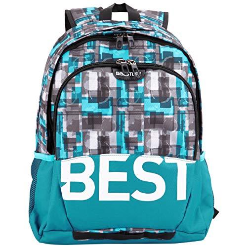 """BESTLIFE Plecak unisex """"TASKU"""" torba szkolna torba rekreacyjna z kieszenią na laptopa do 15,6 cala (39,6 cm), niebieski"""