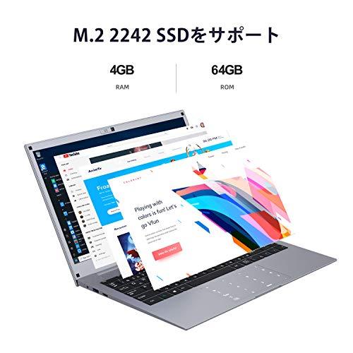 Winnovoノートパソコン14インチWindows104GBRAM64GBROMOffice搭載CeleronノートPCのぞき見防止カメラ日本語キーボート搭載テンキーWiFiBluetooth4.0HDMIUSB3.0/N140(グレー)
