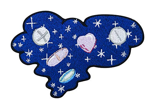 Pill Universe - Parche termoadhesivo, diseño de estrellas nocturnas para planchar
