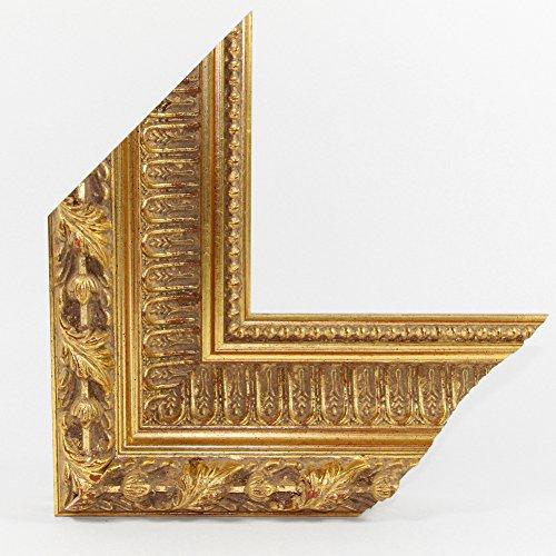 OLIMP-13 Bilderrahmen 33x95 cm Echtholz Barock in Farbe Antik Gold