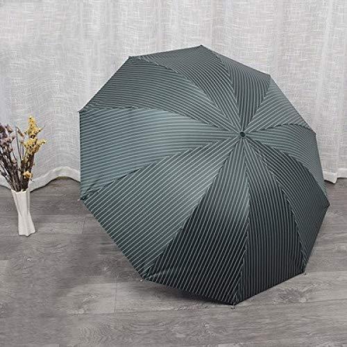 CZZJH Regenschirm Ten Bones Double Erhöhen Sie Den Retro-Streifenregenschirm Und Den Uv-Sonnenschutzregenschirm Aus Zweifachem Vinyl