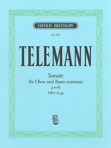 Sonate g-moll TWV 41:g6 - Tafelmusik 1733, III/5 Bearbeitung für Oboe und Klavier (EB 4171)