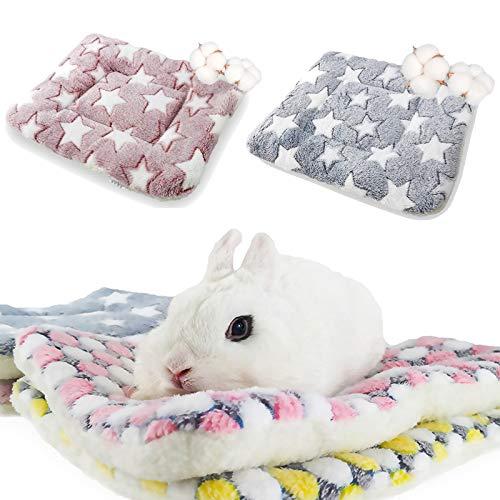 Lot de 2 lits pour hamster,lapin Tapis de lit Chauds en...