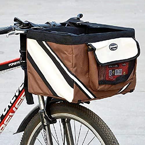 Mand for het vervoer van kleine dieren bedrijf om fietsstuur Olayer - met zakken for hondenkoekjes, Kleur: Coffee (Color : Café)