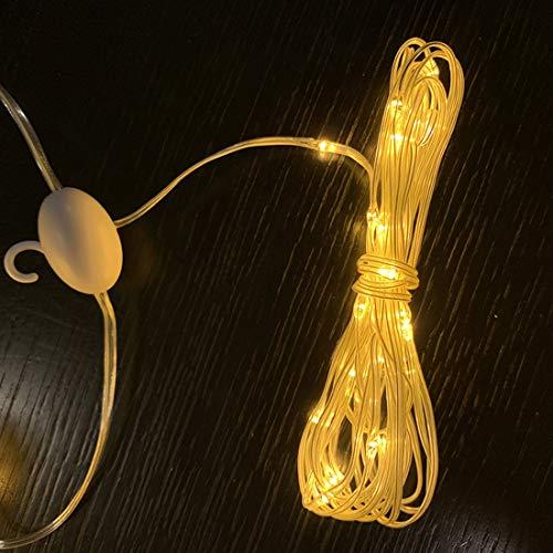 HELELELELE Lichtgordijn 3M * 3M buiten Outdoor 300 LED Lichtketting 8 modi warm wit Waterdicht Decoratieve verlichting voor binnen buiten tuin Party (2 stuks)