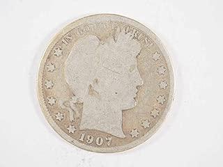 1907 S Barber Silver Half Dollar Half Dollars Ungraded