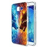 Pnakqil Caso Telefono per Samsung Galaxy A3 2017 Cover,Morbido Silicone TPU Trasparente Ultrasottile Anti-caduta Antiurto Impermeabile per Samsung Galaxy A3 2017, 2 Lupo