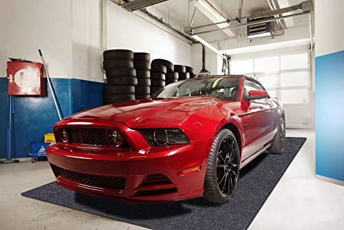 Sensko Garage Floor Mat,Shearable,Absorbent Oil Mat—Floor Mat for Golf Carts,Indoor Parking Mat-Absorbent Felt and Leak-Resistant Anti-Slip Backing,Washable(7.5 ft x 19 ft)