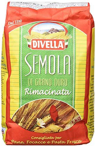 12x Divella Semola Di Grano Duro Rimacinata sémola de trigo duro 1 kg
