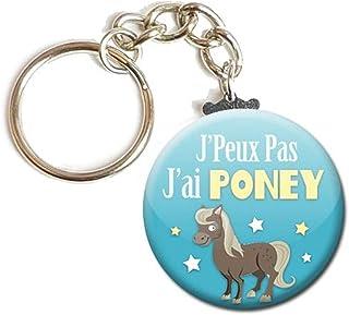 Porte Clés Chaînette 3,8 centimètres j' peux pas j' ai Poney Idée Cadeau Accessoire Humour Homme Femme Excuse