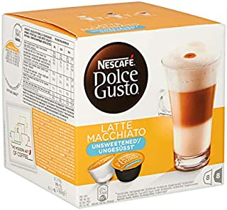 Nescafe Dolce Gusto latte macchiato unsweetened 16 cups for 8 cups 3x | Total weight 600 gr