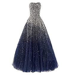 Royalbue Long with Rhinestones Evening Pageant Gown