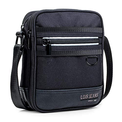 Lois - Casual Man Shoulder Bag 2 Main compartments with Zipper. Adjustable Strap. Pockets...